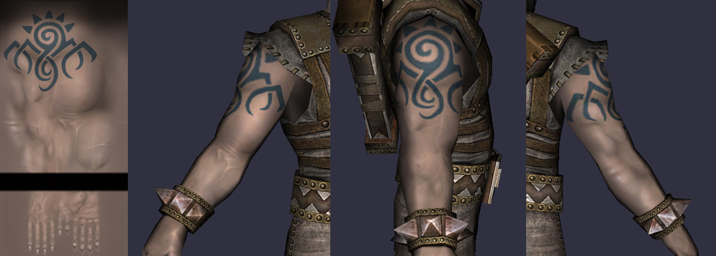 ... old files here s the texture and how it looks wrapped around the arm